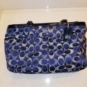 Coach Signature C Tote Handbag Blue